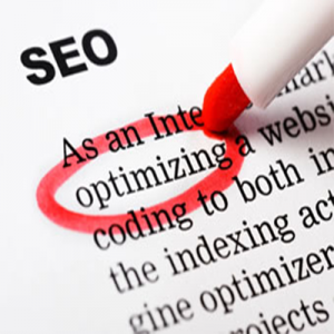 red felt tip circling the word optimisation on a sheet titled seo, showing the importance of optimisation